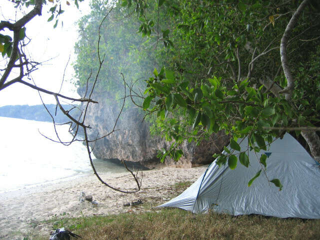 Camping at Fred's Beach